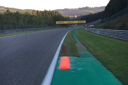Kerb on the exit of turn 9