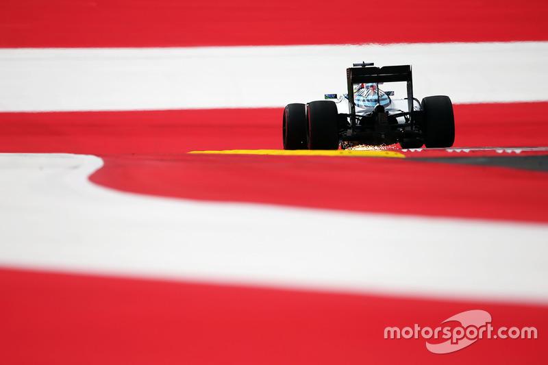 Felipe Massa, Williams FW38 kıvılcımlar saçıyor