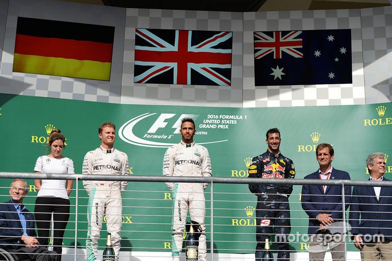 Podium: 1. Lewis Hamilton, Mercedes AMG F1; 2. Nico Rosberg, Mercedes AMG F1; 3. Daniel Ricciardo, Red Bull Racing