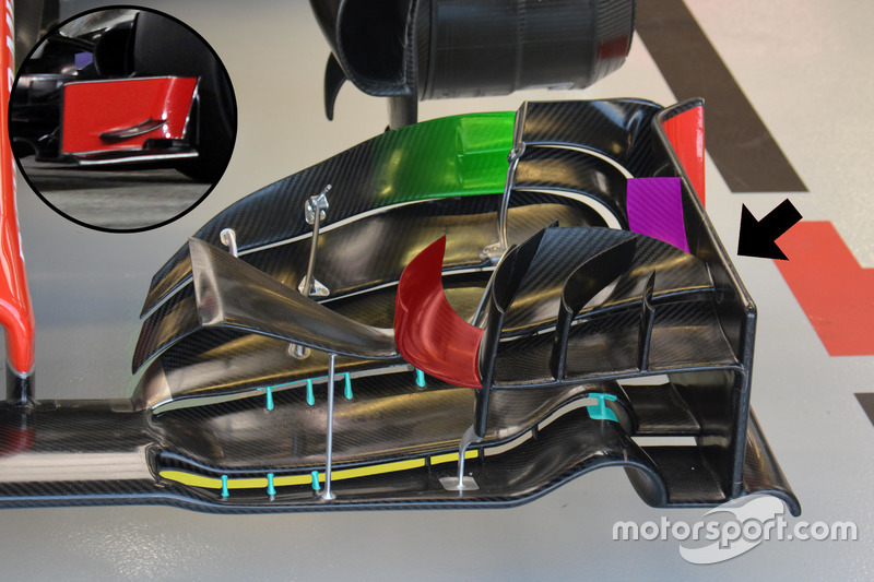 Haas F1 Team VF-16, front wing detail
