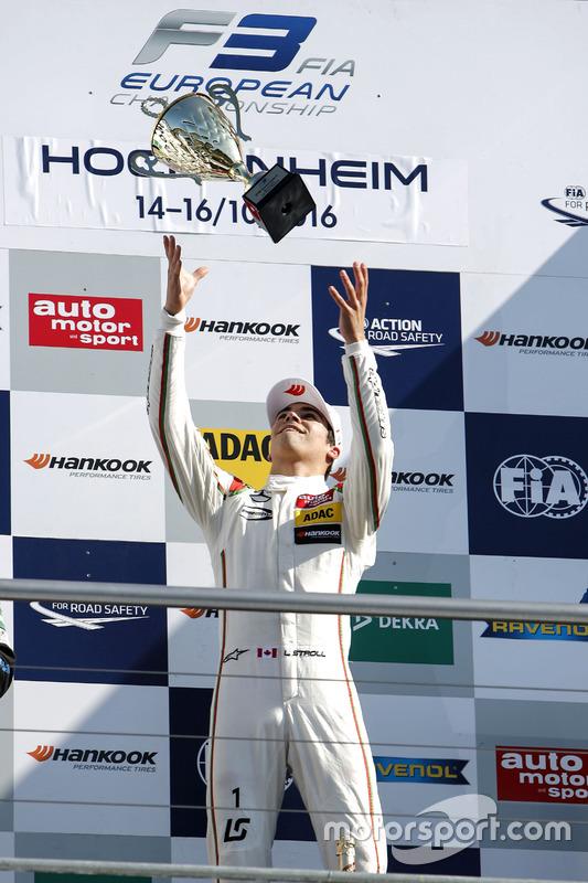 Podium: ganador, Lance Stroll, Prema Powerteam Dallara F312 - Mercedes-Benz
