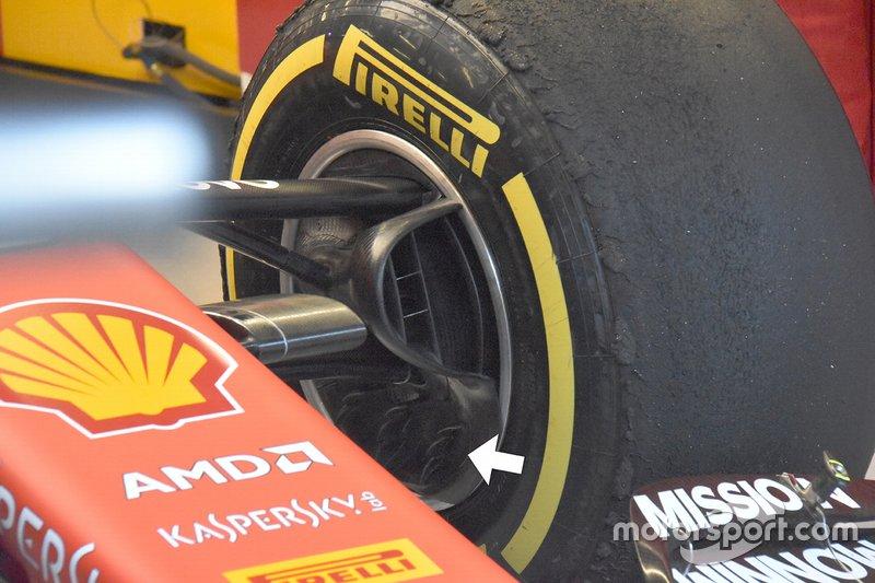 Vue détaillée de la Ferrari