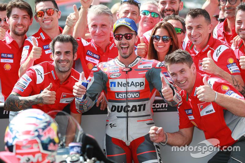 Pole position Andrea Dovizioso, Ducati Team