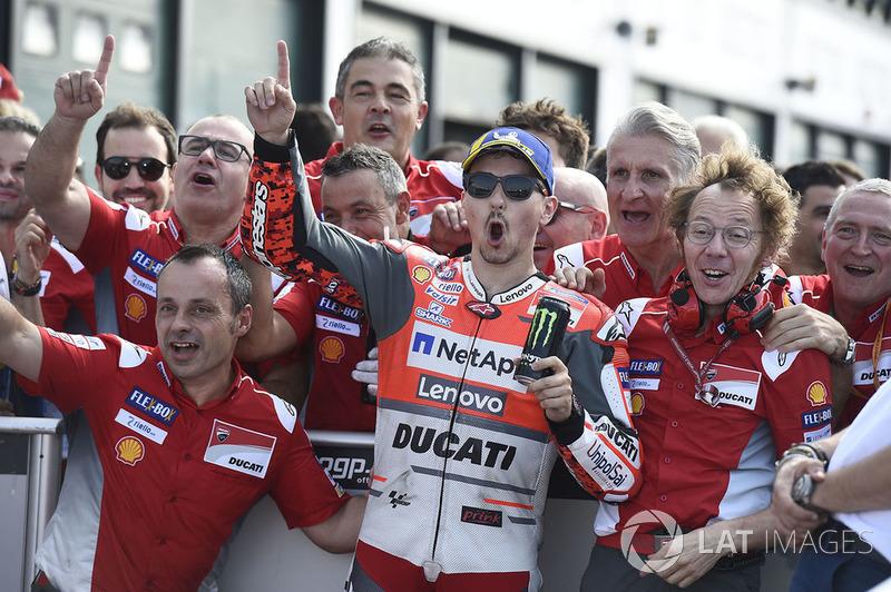 Poleman Jorge Lorenzo, Ducati Team