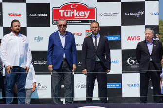 Serkan Yazıcı, TOSFED President, Recep Tayyip Erdoğan, President of Turkey, Jean Todt, FIA President