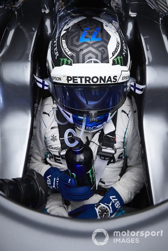 Valtteri Bottas, Mercedes AMG F1, in his cockpit
