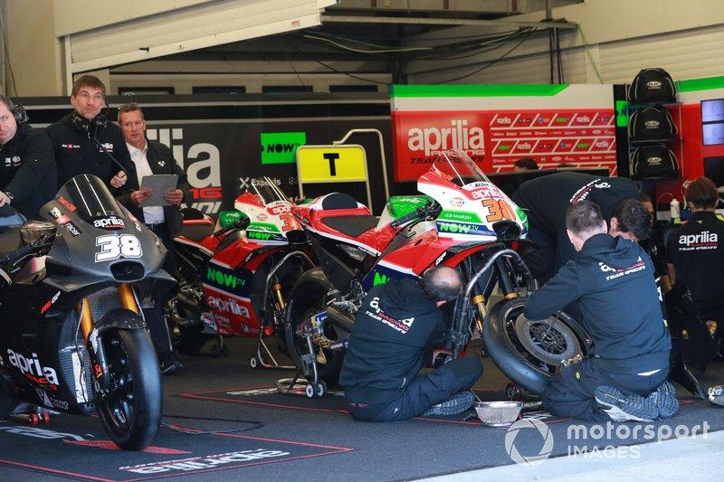 Bradley Smith's Aprilia garage