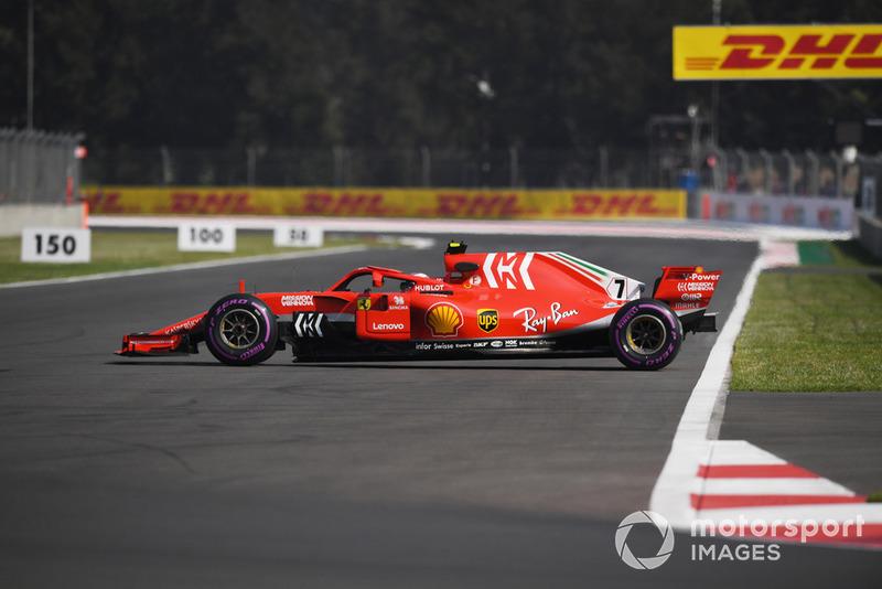 Разворот на трассе: Кими Райкконен, Ferrari SF71H