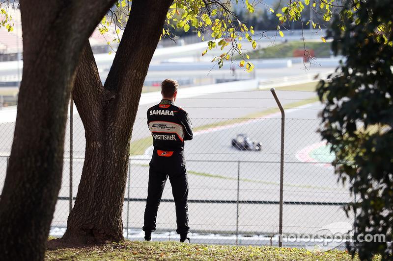 Nico Hulkenberg, Sahara Force India F1 acompanha ação