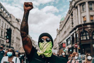 Hamilton en el evento Black Lives Matter