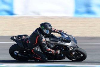 Lewis Hamilton test de Yamaha Superbike