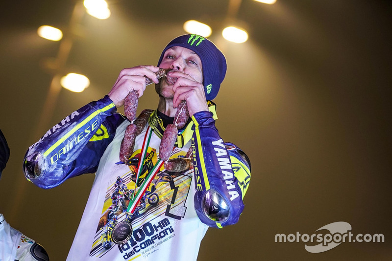 Valentino Rossi, festeggia la vittoria