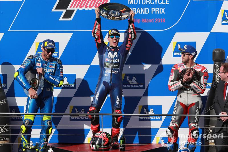 #17 GP de Australia - Podio: Maverick Viñales, Andrea Iannone, Andrea Dovizioso