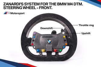 Zanardi'nin BMW M4 DTM direksiyonu