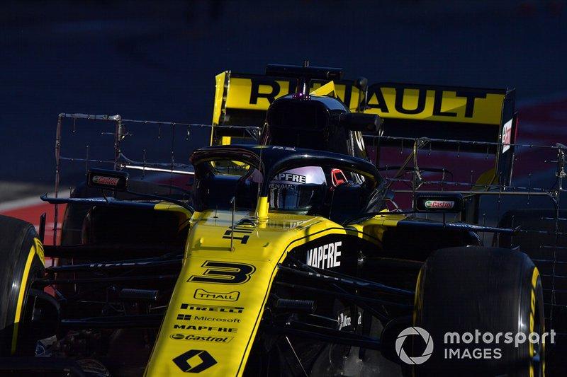 Daniel Ricciardo, Renault F1 Team R.S. 19 , con sensores aerodinámicos