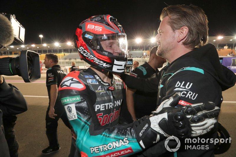 Fabio Quartararo, Petronas Yamaha SRT, mit Johann Stigefelt