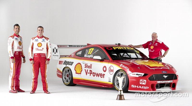Scott McLaughlin, Fabian Coulthard, Dick Johnson, Shell V-Power Racing Team