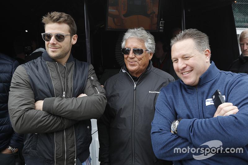 Mario Andretti, Marco Andretti, Zak Brown, McLaren CEO