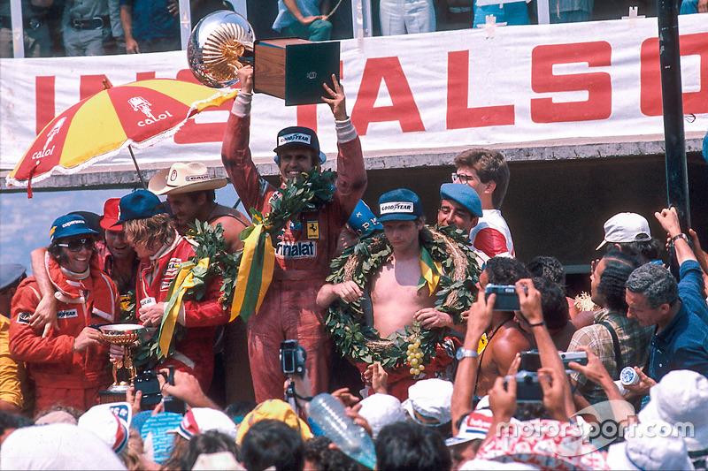 Ganador del GP de Brasil 1977: Carlos Reutemann, Ferrari