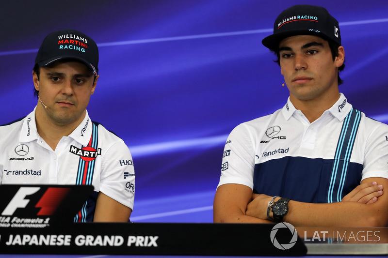 Felipe Massa, Williams and Lance Stroll, Williams in the Press Conference