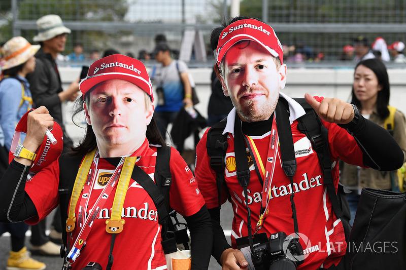 Kimi Raikkonen, Ferrari and Sebastian Vettel, Ferrari fans