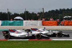 Felipe Massa, Williams FW40 and Lance Stroll, Williams FW40 battle