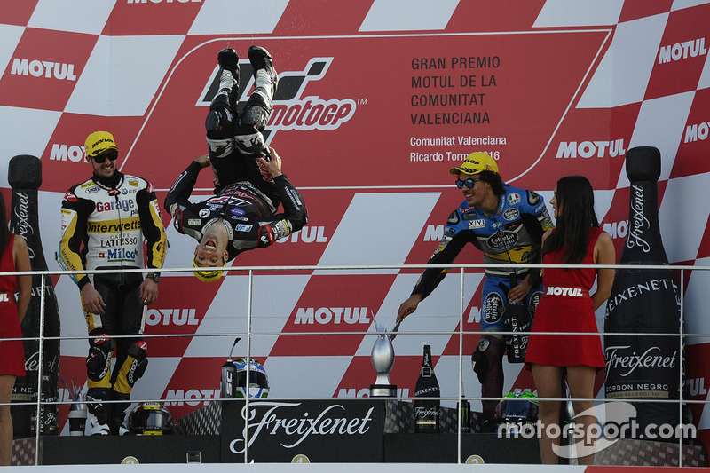Podium: race winner Johann Zarco, Ajo Motorsport