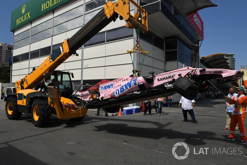 حادث سيارة سيرجيو بيريز، فورس انديا