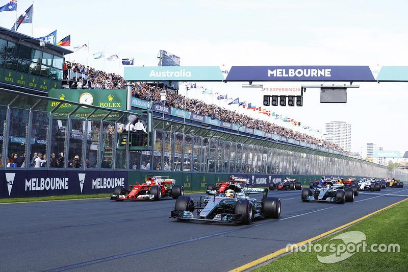 Arrancada: Lewis Hamilton, Mercedes AMG líder
