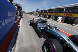 Valtteri Bottas, Mercedes AMG F1 W08, in the pit lane