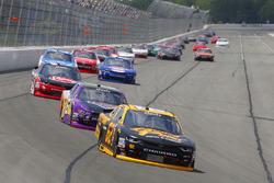 Brendan Gaughan, Richard Childress Racing Chevrolet, Darrell Wallace Jr., Roush Fenway Racing Ford