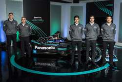 James Barclay, Teamdirektor, Jaguar Racing, Gerd Mäuser, Geschäftsführer, Panasonic Jaguar Racing, Mitch Evans, Nelson Piquet Jr, Ho-Pin Tung