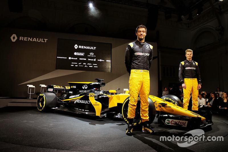 Jolyon Palmer, Renault Sport F1 Team; Nico Hülkenberg, Renault Sport F1 Team, mit dem Renault RS17
