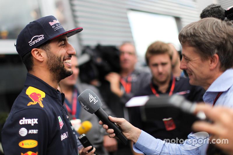 Daniel Ricciardo, Red Bull Racing talks to the media