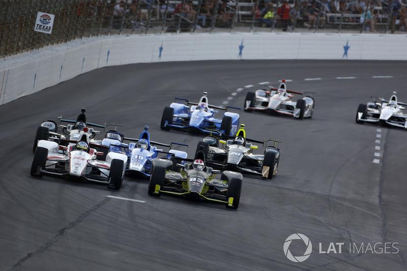 Tristan Vautier, Dale Coyne Racing Honda, Charlie Kimball, Chip Ganassi Racing Honda
