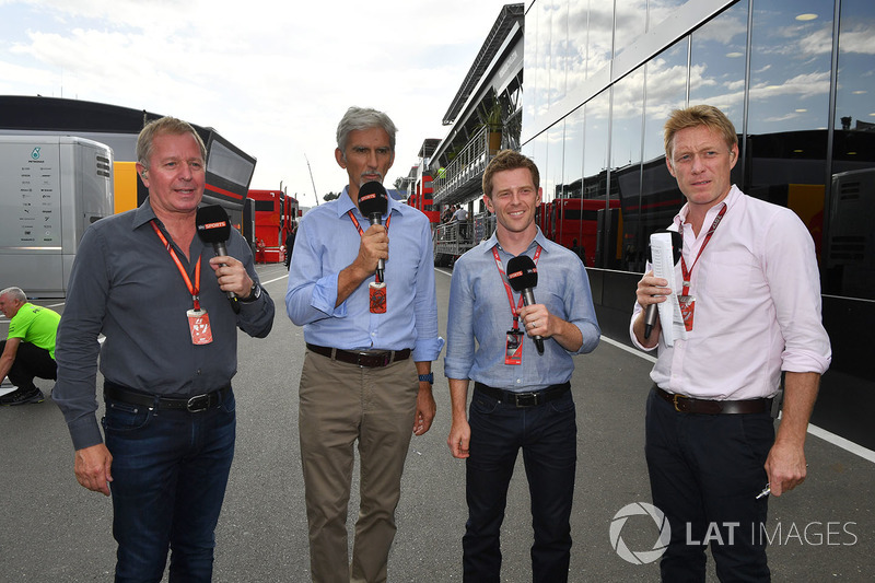 Martin Brundle, Sky TV, Damon Hill, Sky TV, Anthony Davidson, Sky TV, Simon Lazenby, Sky TV