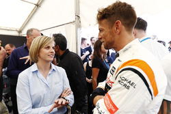 Susie Wolff, Channel 4; Jenson Button, McLaren