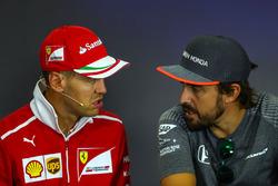 Sebastian Vettel, Ferrari, Fernando Alonso, McLaren