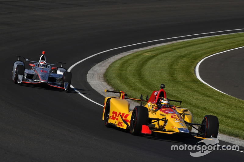 Ryan Hunter-Reay, Andretti Autosport Honda, Will Power, Team Penske Chevrolet