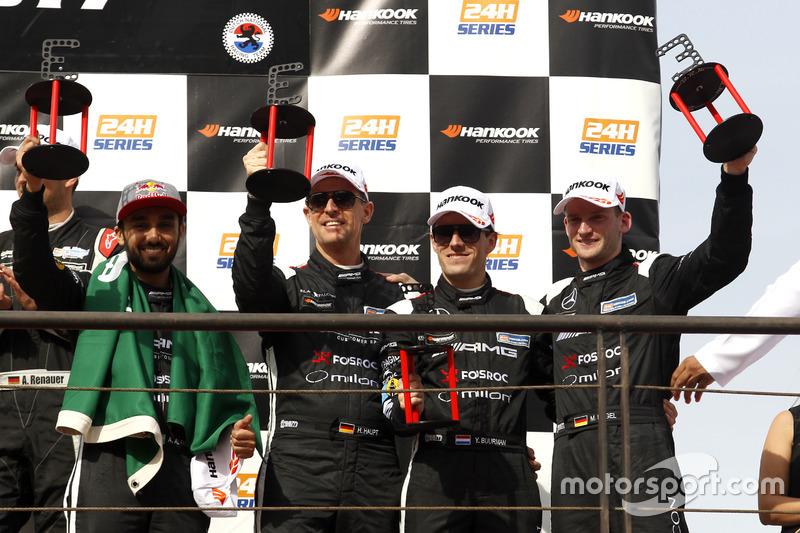 Podium: third place #3 Black Falcon Mercedes AMG GT3: Abdulaziz Al Faisal, Hubert Haupt, Yelmer Buurman, Michal Broniszewski, Maro Engel