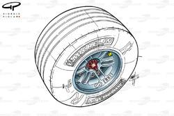 McLaren MP4-17 2002 tyre valve