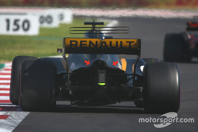 Trasera del Renault Sport F1 Team RS17