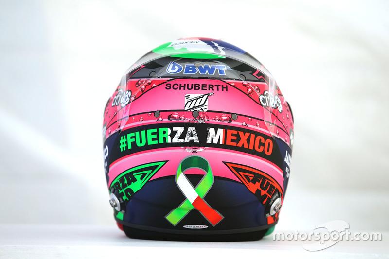 Capacete de Sergio Perez, Sahara Force India F1