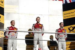 Чемпион DTM 2017 года Рене Раст, Audi Sport Team Rosberg, второе место – Маттиас Экстрём, Audi Sport Team Abt Sportsline, третье место – Джейми Грин, Audi Sport Team Rosberg