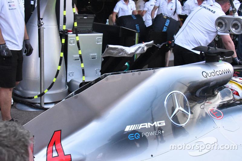 Mercedes AMG F1 W09 arka detay