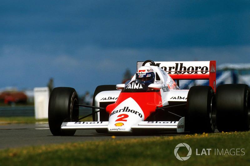 1985 : McLaren MP4/2B, à moteur TAG Porsche
