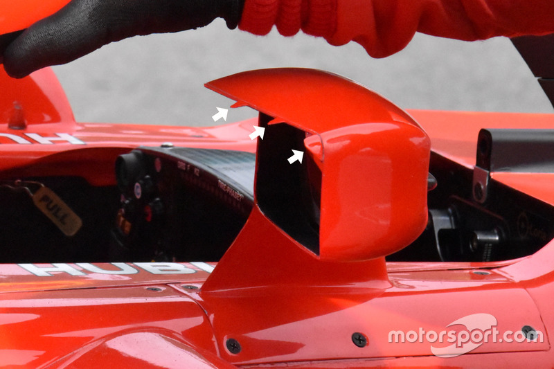 Rétroviseurs de la Ferrari SF71H
