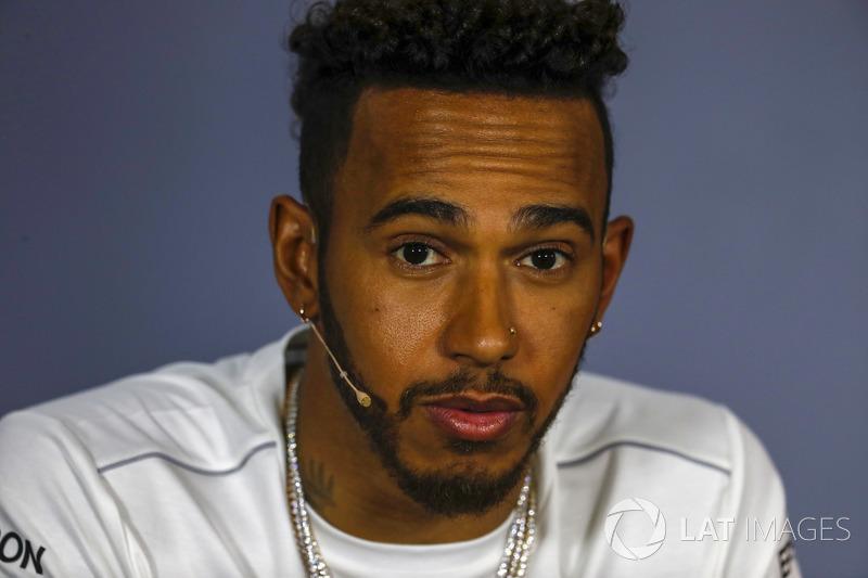 Lewis Hamilton, Mercedes AMG F1, nella conferenza stampa del giovedì