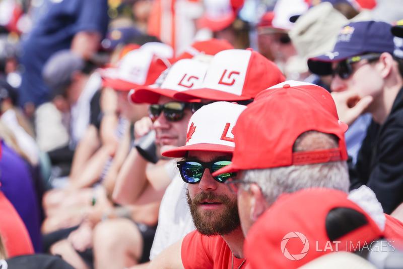 Tifosi di Lance Stroll, Williams Racing, in tribuna