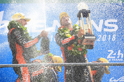LMP2 podium: winners Roman Rusinov, Andrea Pizzitola, G-Drive Racing